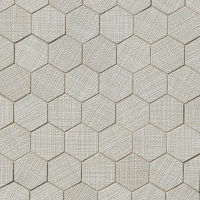 "Dagny 2"" x 2"" Floor and Wall Mosaic in Silver"