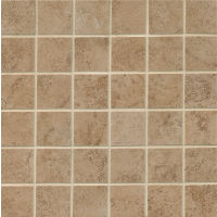 "Fantasia 2"" x 2"" Floor and Wall Mosaic in Taupe"