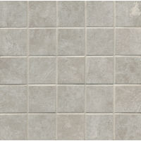 "Indiana Stone 2"" x 2"" Floor and Wall Mosaic in Silver"