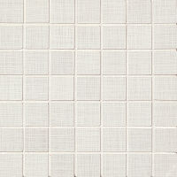 "Linen 1-1/2"" x 1-1/2"" Floor and Wall Mosaic in White"