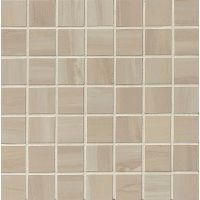"Rose Wood 1-1/2"" x 1-1/2"" Floor and Wall Mosaic in Off White"