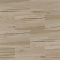 "Rose Wood 12"" x 24"" x 3/8"" Floor and Wall Tile in Beige"