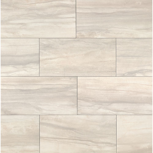 "Athena 12"" x 24"" x 3/8"" Floor and Wall Tile in Pearl"