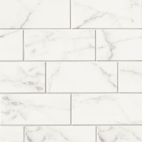 "Brooklyn 4"" x 10"" x 5/16"" Wall Tile in Statuario"