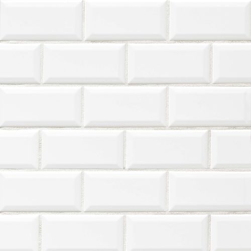 "Traditions 3"" x 6"" Wall Tile in Ice White"
