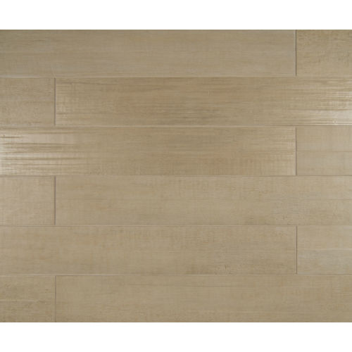 "Barrique 4"" x 24"" x 3/8"" Floor and Wall Tile in Blanc"