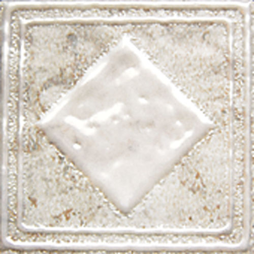 "Forge 2"" x 2"" Decorative Tile in White"