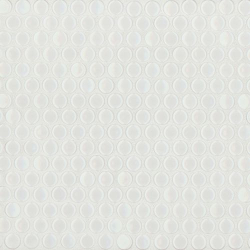 "360 3/4"" x 3/4"" Floor & Wall Mosaic in White Gloss"