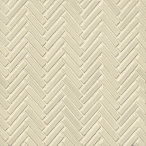 "90 1/2"" x 2"" Floor & Wall Mosaic in Off White"