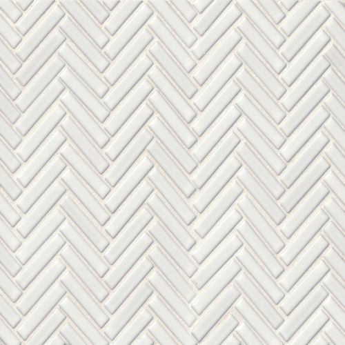 "90 1/2"" x 2"" Floor & Wall Mosaic in White"