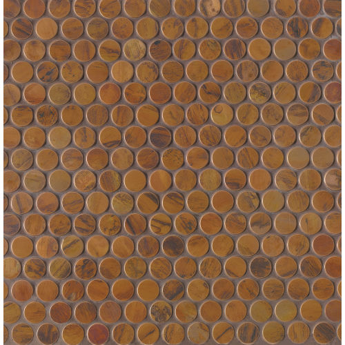 "Acadia 3/4"" x 3/4"" Wall Mosaic in Birch Copper"