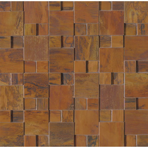 "Acadia 11"" x 11"" x 1/4"" Decorative Tile in Birch Copper"
