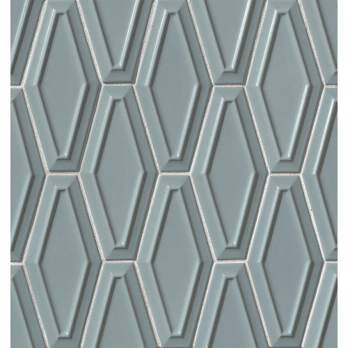 "Costa Allegra 4"" x 9"" Decorative Tile in Tide"