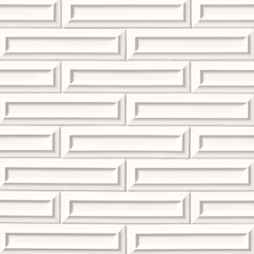 "Costa Allegra 3"" x 12"" Decorative Tile in White Sand"