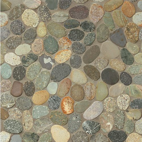 Hemisphere Floor & Wall Mosaic in Riverbed