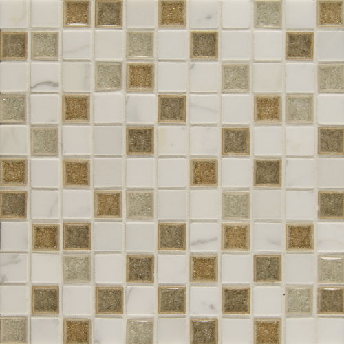 "Kismet 1"" x 1"" Wall Mosaic in Zen"