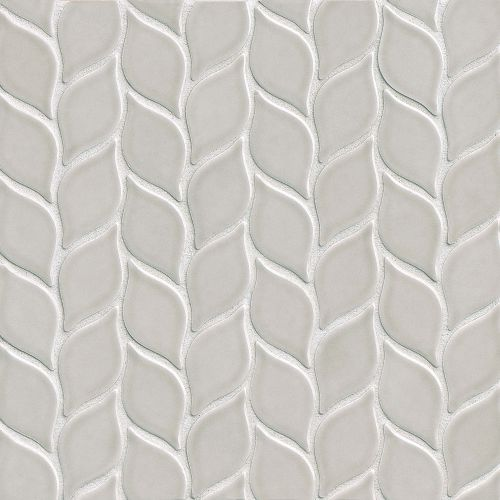 "Provincetown 2-13/16"" x 1-7/16"" Floor and Wall Mosaic in Dolphin Grey"