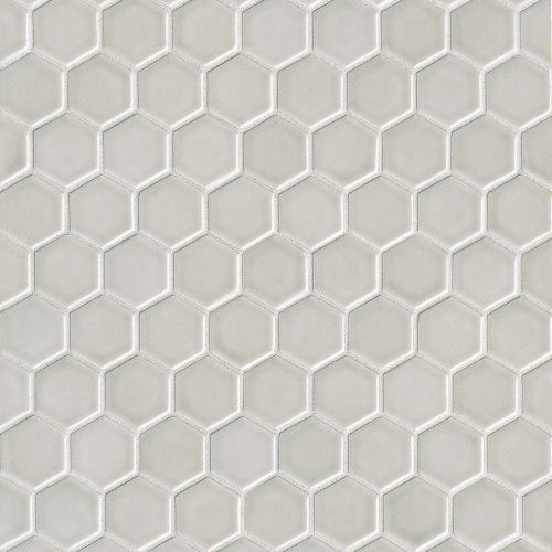 "Provincetown 1-11/16"" x 1-1/2"" Floor & Wall Mosaic in Dolphin Grey"
