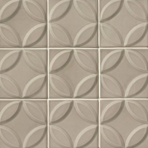 "Provincetown 6"" x 6"" x 7/16"" Decorative Tile in Dune Beige"