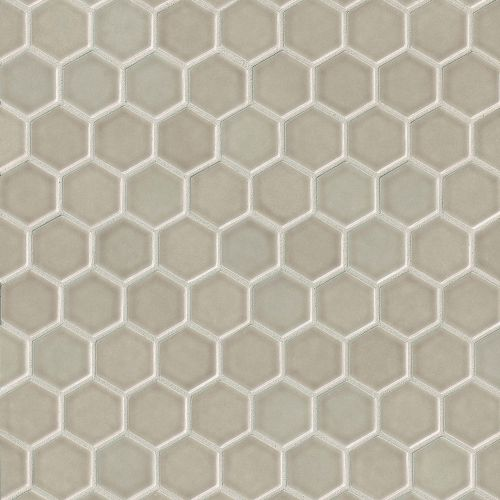 "Provincetown 1-11/16"" x 1-1/2"" Floor and Wall Mosaic in Dune Beige"