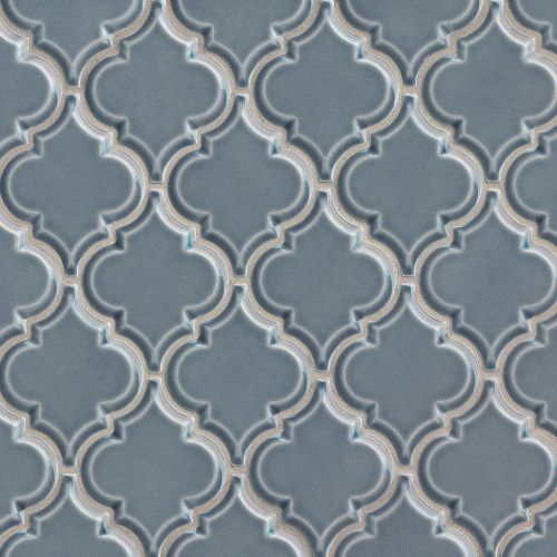 "Provincetown 5-1/8"" x 4-1/16"" Floor and Wall Mosaic in Harbor Blue"