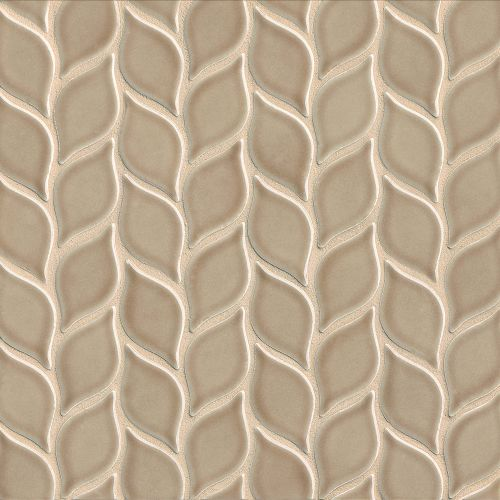 "Provincetown 2-13/16"" x 1-7/16"" Floor and Wall Mosaic in Highland Brown"