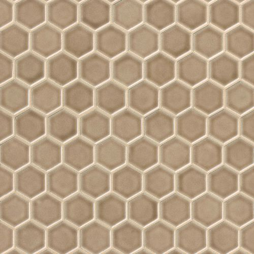 "Provincetown 1-11/16"" x 1-1/2"" Floor & Wall Mosaic in Highland Brown"