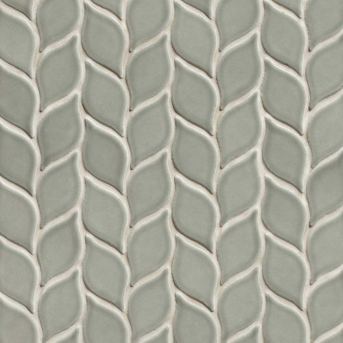 "Provincetown 2-13/16"" x 1-7/16"" Floor and Wall Mosaic in Monument Grey"