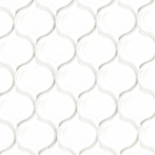 "Provincetown 3-1/16"" x 2-7/8"" Wall Mosaic in Porch White"