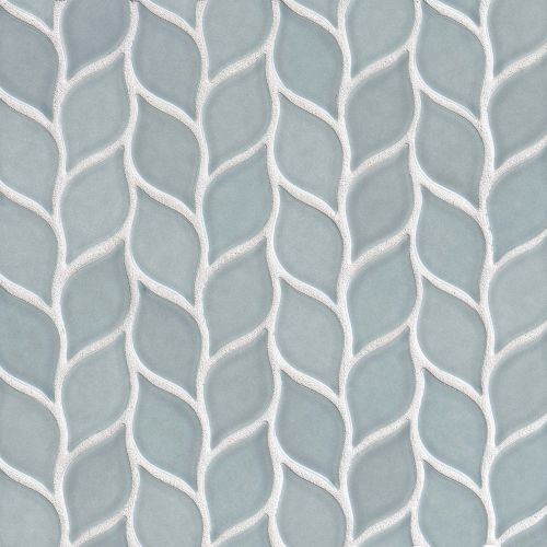 "Provincetown 2-13/16"" x 1-7/16"" Floor & Wall Mosaic in Surfside Blue"