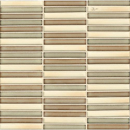 "Shizen 1/2"" x 4"" Floor & Wall Mosaic in Canyon Blend"