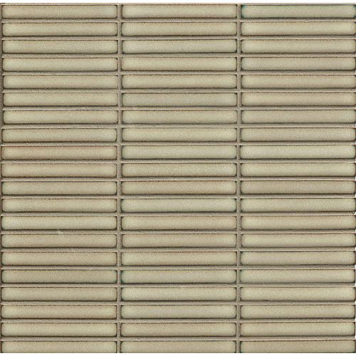 "Shizen 1/2"" x 4"" Floor & Wall Mosaic in Moss"