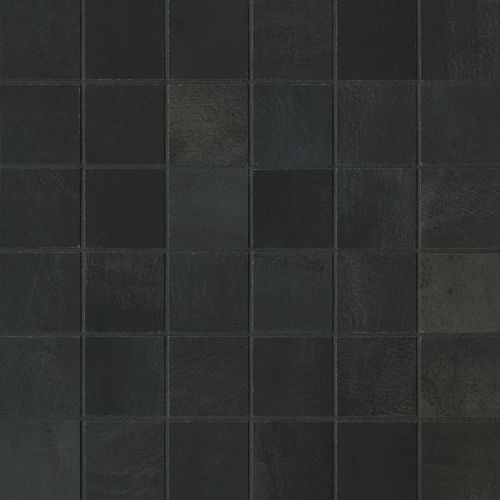 "Chateau 2"" x 2"" Floor & Wall Mosaic in Midnight"
