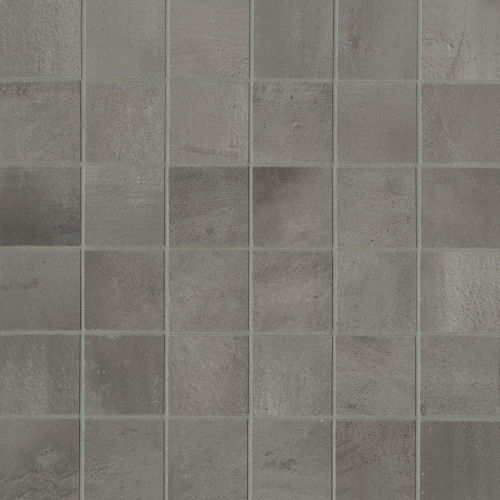"Chateau 2"" x 2"" Floor & Wall Mosaic in Smoke"