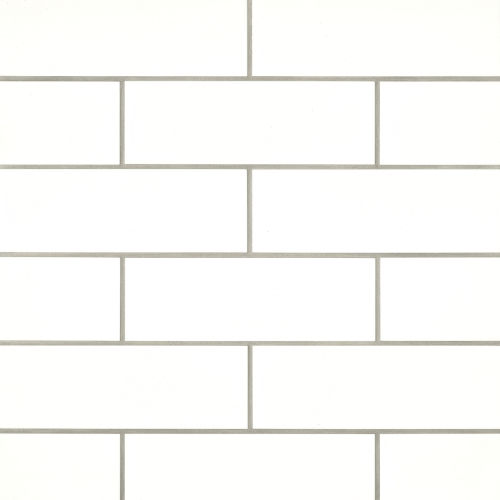 "Grace 4"" x 12"" x 1/4"" Wall Tile in Bianco"