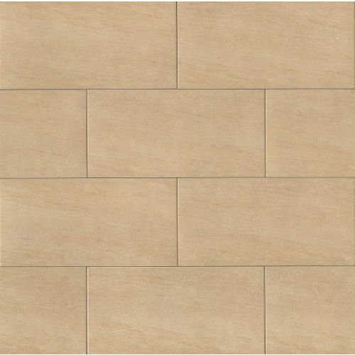 "Moonstone 12"" x 24"" Floor & Wall Tile in Beige"