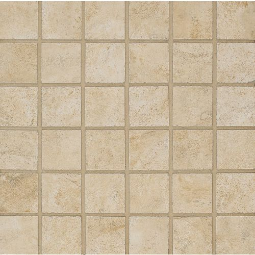 "Stonefire 2"" x 2"" Floor & Wall Mosaic in Almond"