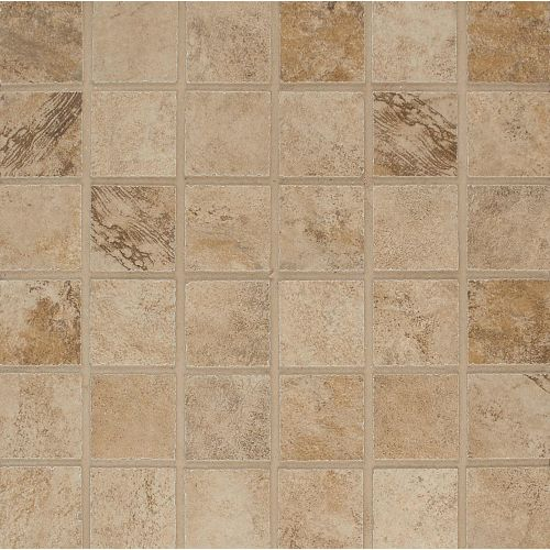 "Stonefire 2"" x 2"" Floor & Wall Mosaic in Beige"