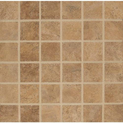 "Stonefire 2"" x 2"" Floor & Wall Mosaic in Noce"