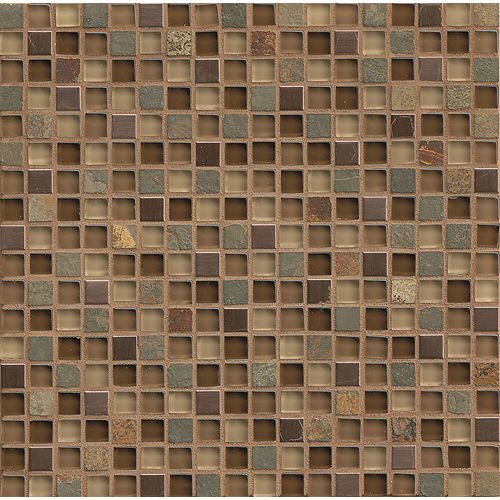 "Elume 5/8"" x 5/8"" Wall Mosaic in Chestnut"