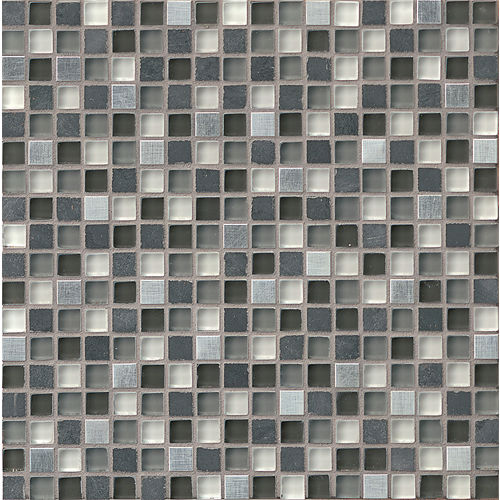"Elume 5/8"" x 5/8"" Wall Mosaic in Organic Pewter"