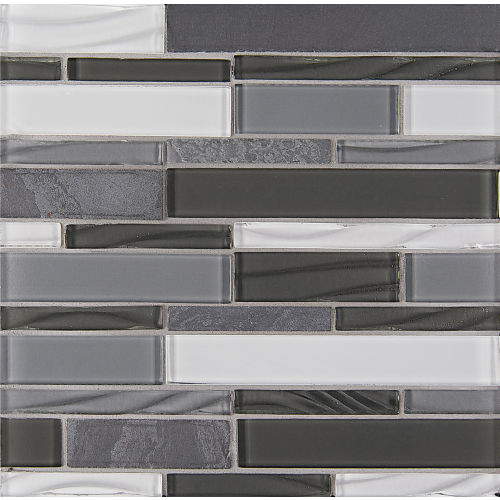 Elume Wall Mosaic in Organic Pewter