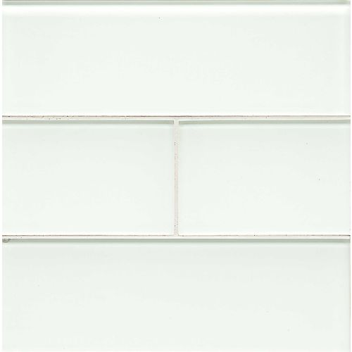 "Hamptons 4"" x 12"" Wall Tile in White Linen"