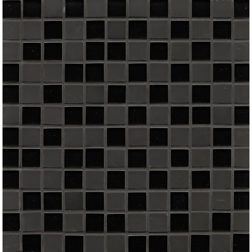 "Manhattan 1"" x 1"" Wall Mosaic in Midnight"
