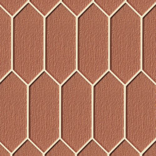 Verve Wall Mosaic in Coral Spice