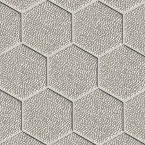 "Verve 4-7/8"" x 5-5/8"" Wall Mosaic in Tinsel Grey"