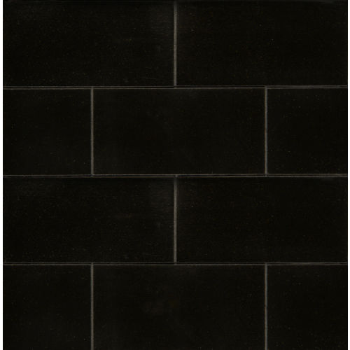 "Absolute Black 3"" x 6"" Floor & Wall Tile"
