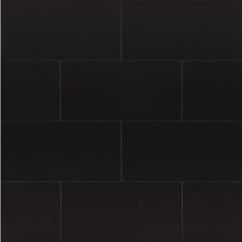 "Absolute Black 12"" x 24"" Wall Tile"