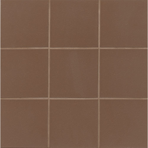 "Metropolitan 6"" x 6"" x 1/2"" Floor and Wall Tile in Chestnut Brown"