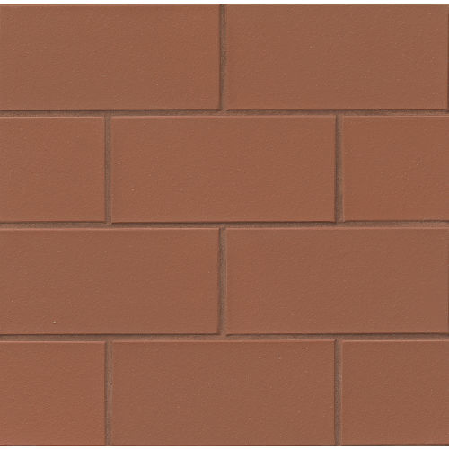 "Metropolitan 4"" x 8"" x 1/2"" Floor and Wall Tile in Mayflower Red"